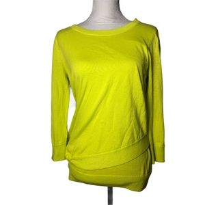 Free People We the Free Pullover Sweater Neon Smal
